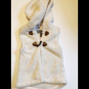 Old Navy Teddy Bear Hooded Vest